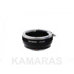 Objetivos Leica R a cámaras M.4/3 Metabones