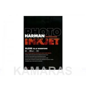 HARMAN papel BARYTA WARTONE (320g) Brillo A4/15 hojas