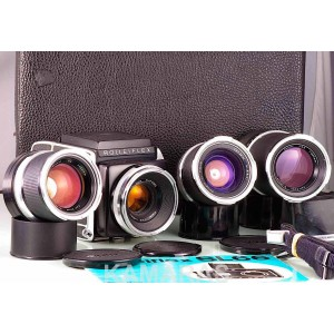 Rolleiflex SL66 + Carl Zeiss Planar 2.8/80 + 4/150 + 5,6/250 + 4/50  120 + WLF