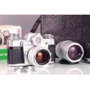Zeiss-Ikon Contarex + Carl Zeiss Planar 50mm + Sonnar 135mm